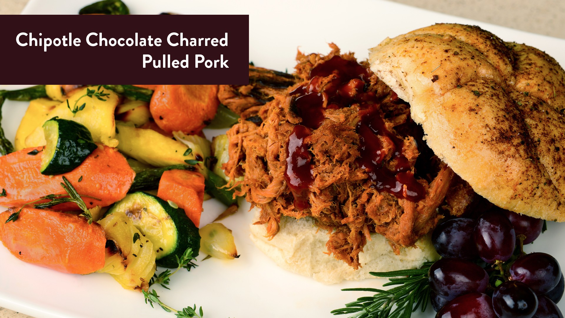 Chipotle Chocolate Charred Pulled Pork from Hershey's Chocolate World