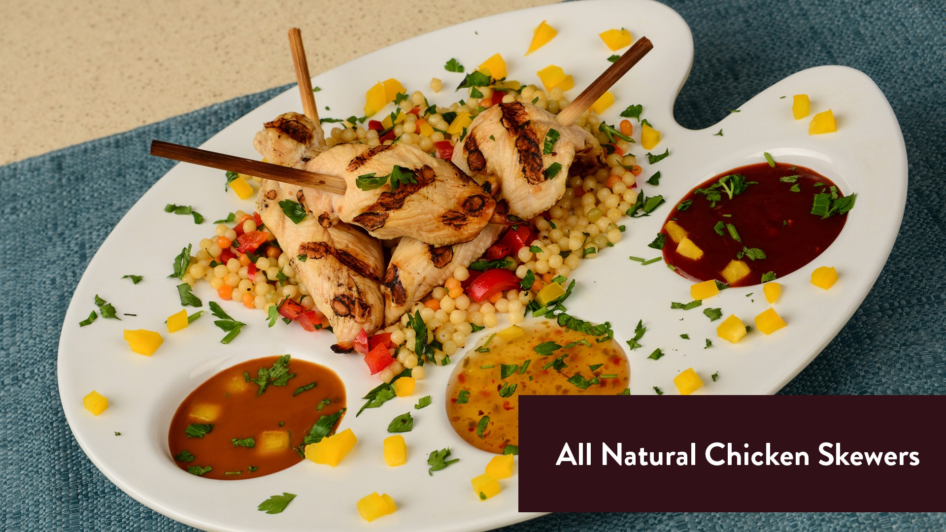 All Natural Chicken Skewers from Hershey's Chocolate World