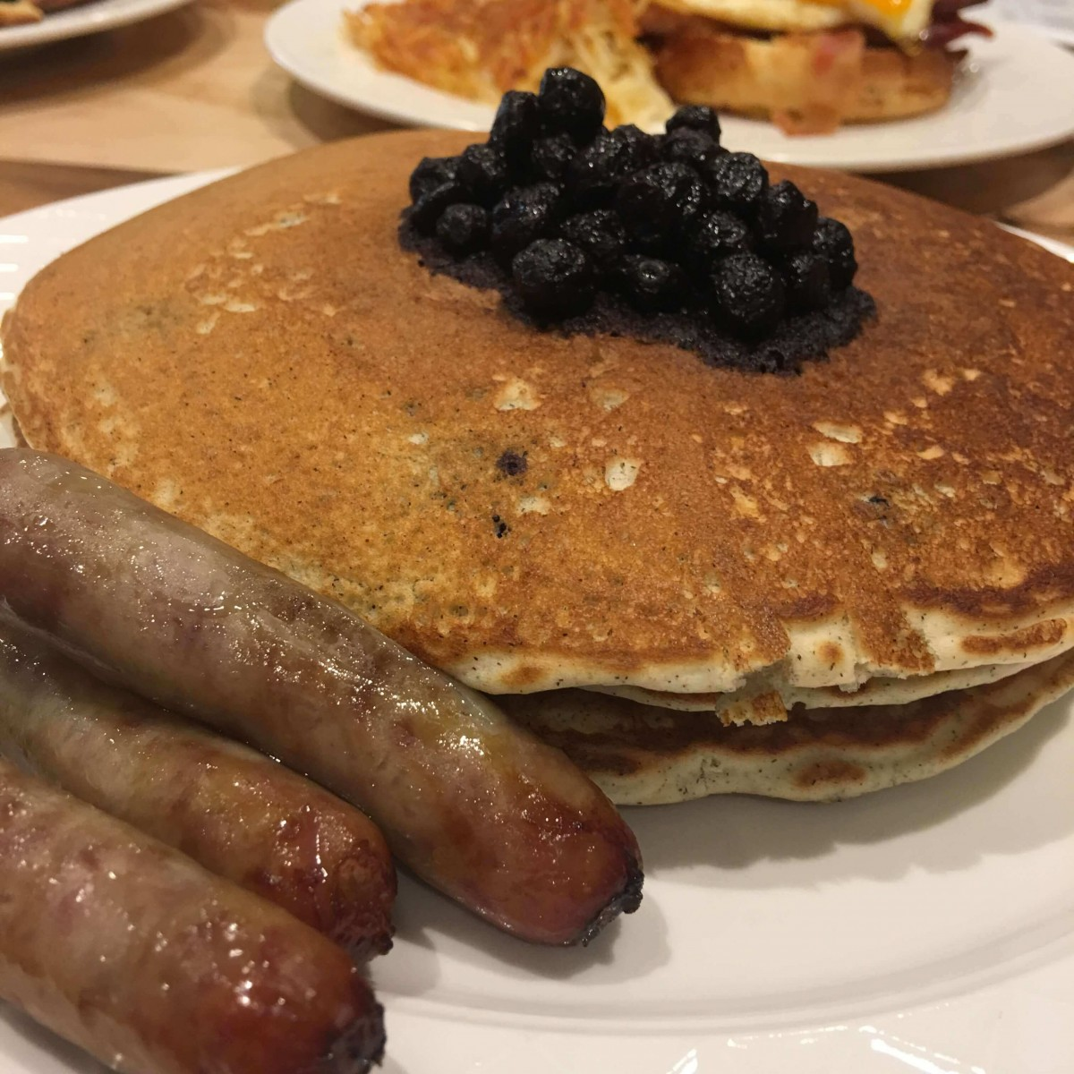 Multigrain Buckwheat Blueberry Pancakes - Fire & Grain 2017