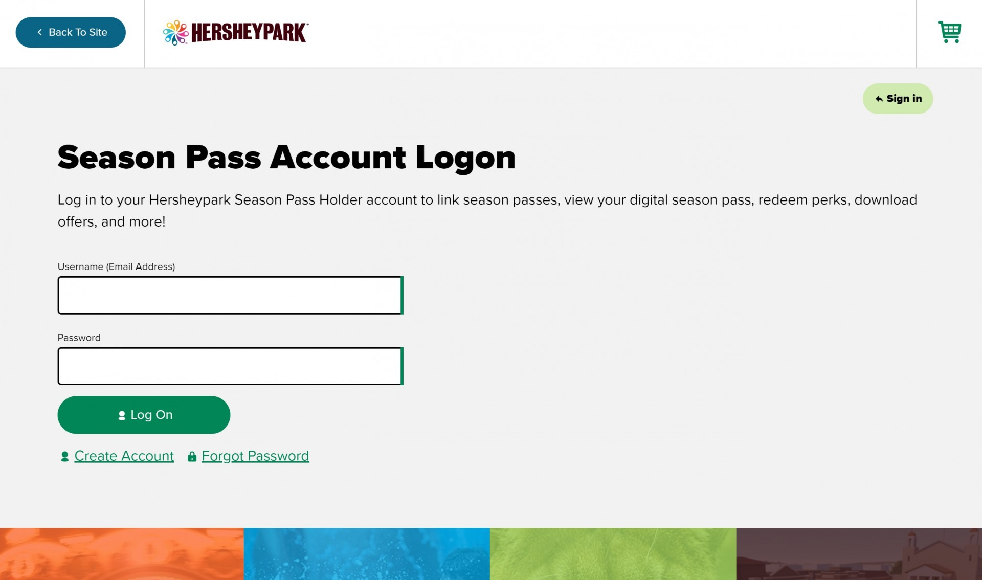 Season Pass Account Logon Screenshot