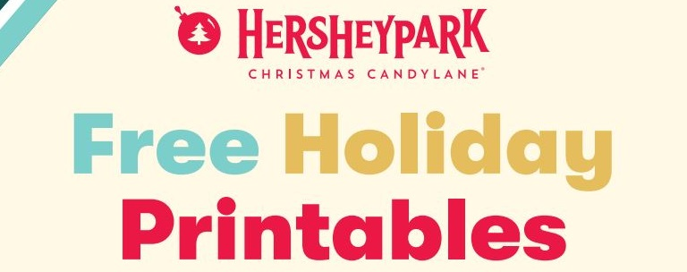 Hersheypark Free Holiday Printables