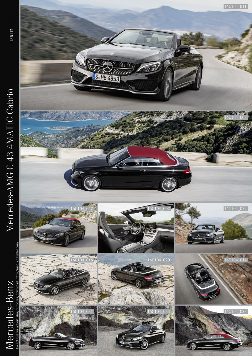 Mercedes-AMG C 43 4MATIC Cabriolet, exterior: obsidian black; interior: leather black, Fuel consumption (l/100 km) urban/ex urban/combined: 11.0/6.7/8.3 combined CO2 emissions: 190 g/km