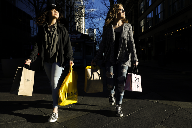 Black Friday two women shopping