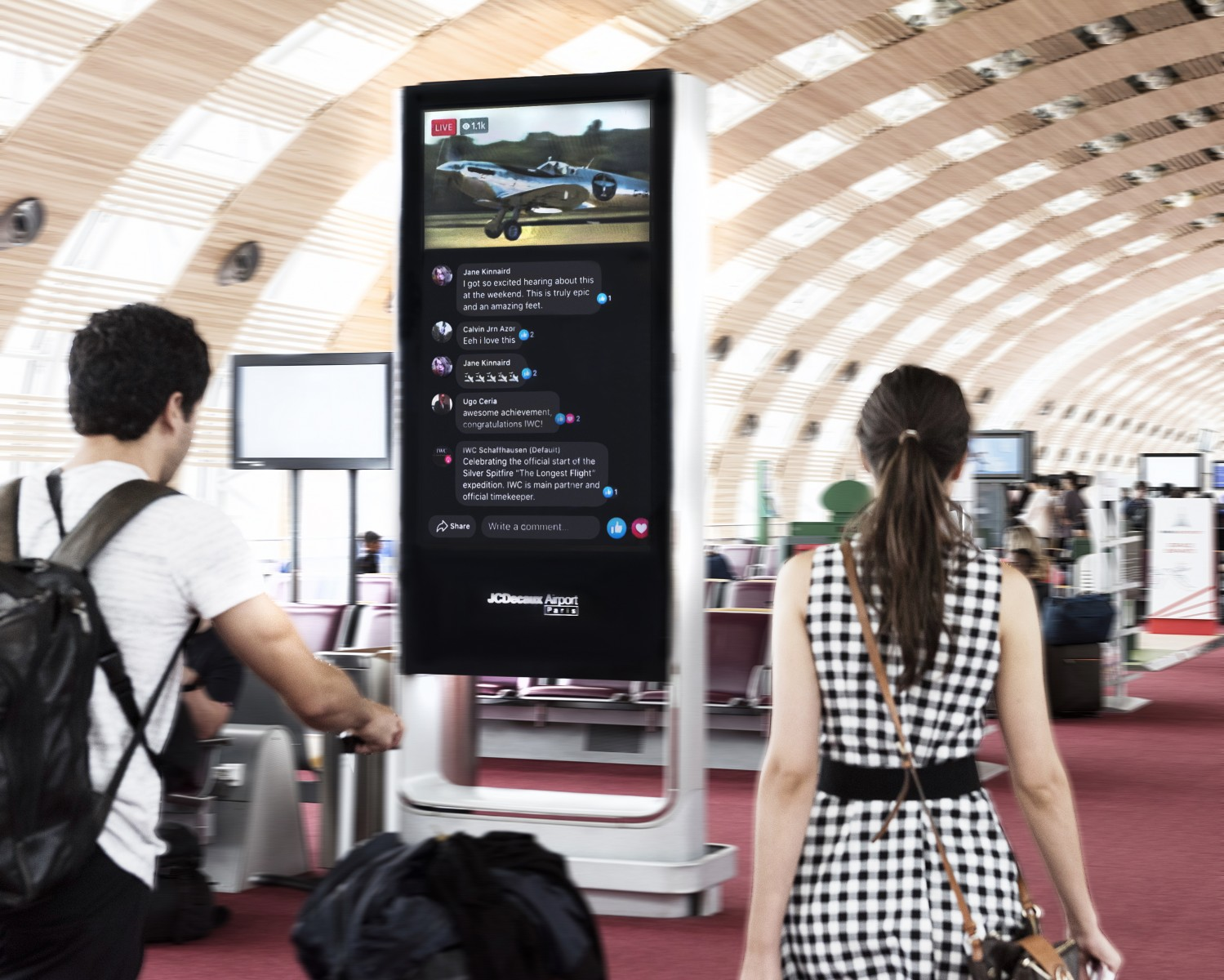 IWC SCHAFFHAUSEN, FACEBOOK AND JCDECAUX AIRPORT PARIS BREAK