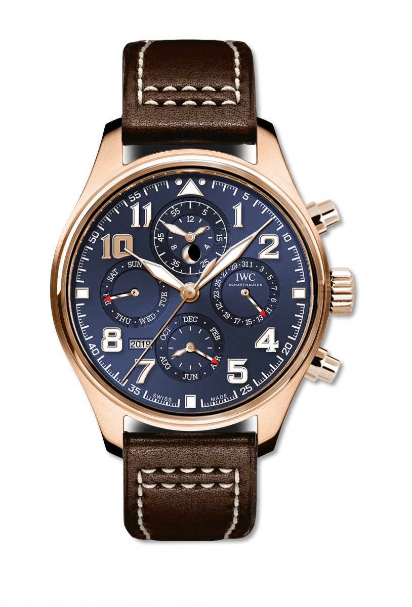 IWC_Unique Pilot's Watch Perpetual Calendar Chronograph Edition «Le Petit Prince» with a beige luminescent index at 10 o'clock