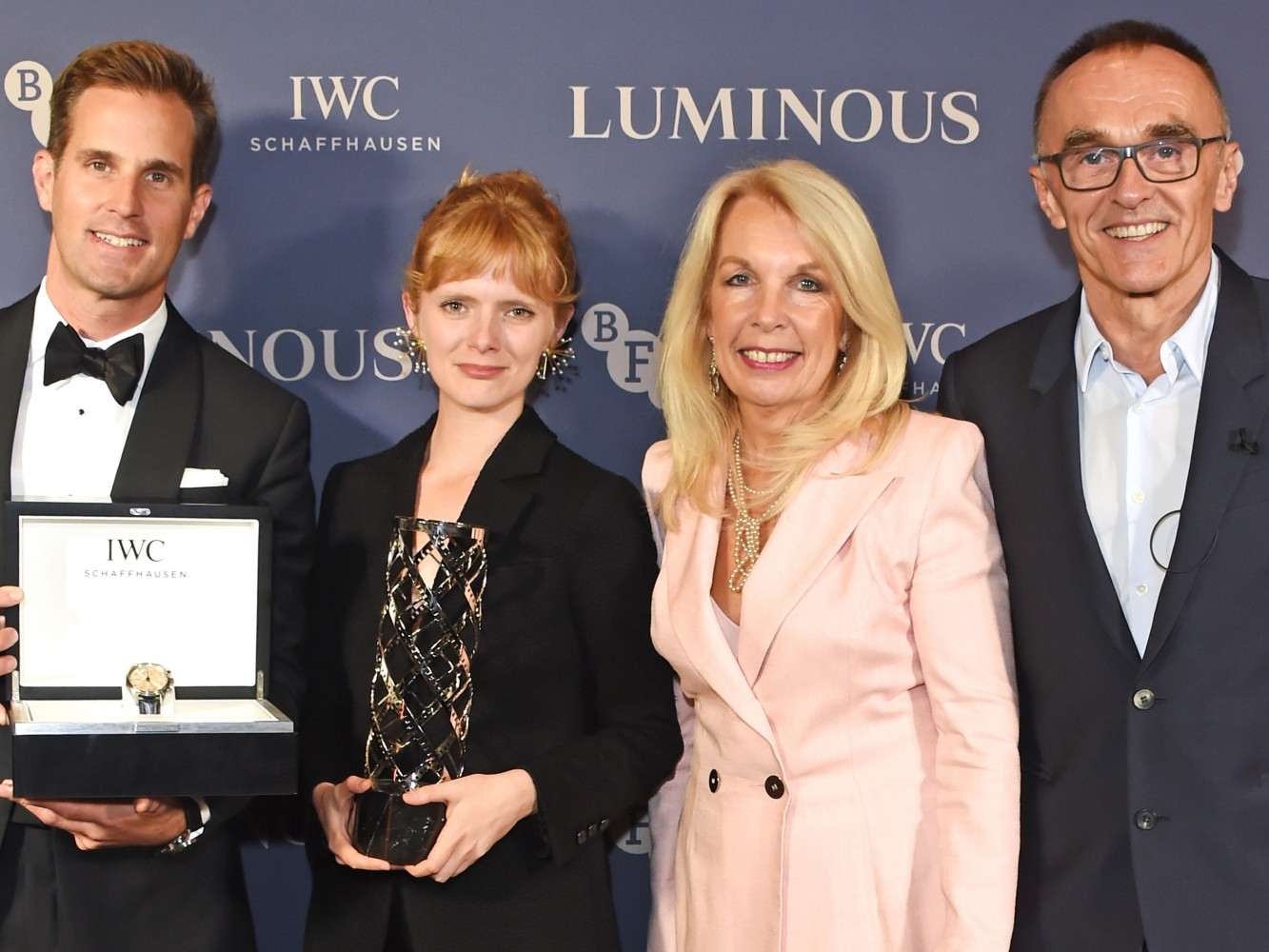 Christoph Grainger-Herr, Rose Glass, Amanda Nevill and Danny Boyle at the BFI and IWC Luminous Gala at The Roundhouse