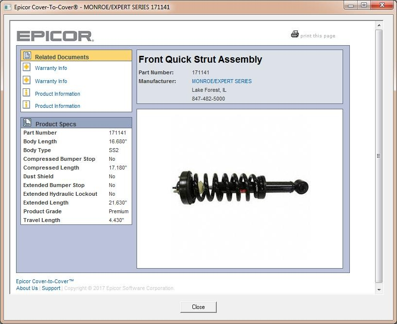 Expanded Epicor Dynamic Updates Ecatalog Service