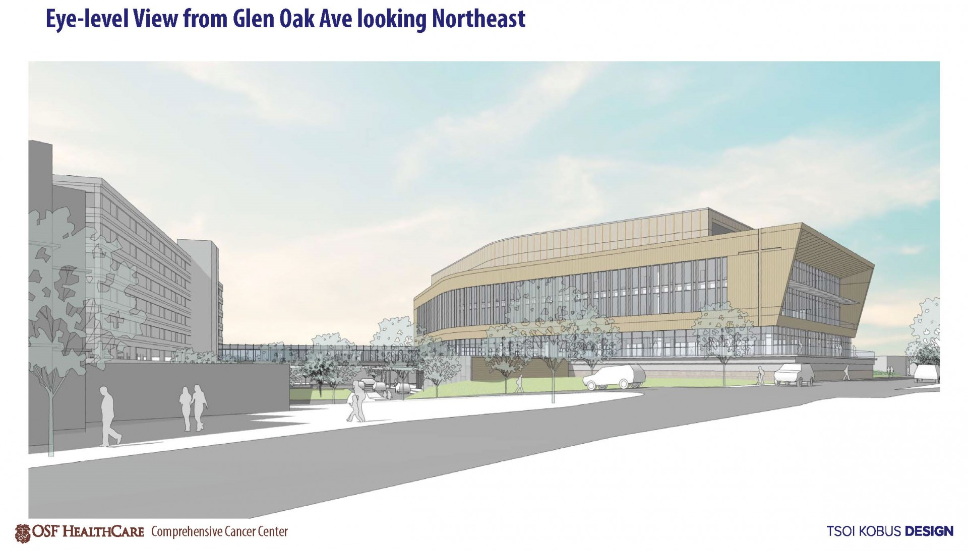 Cancer Center Prelim Rendering from Glen Oak to NE