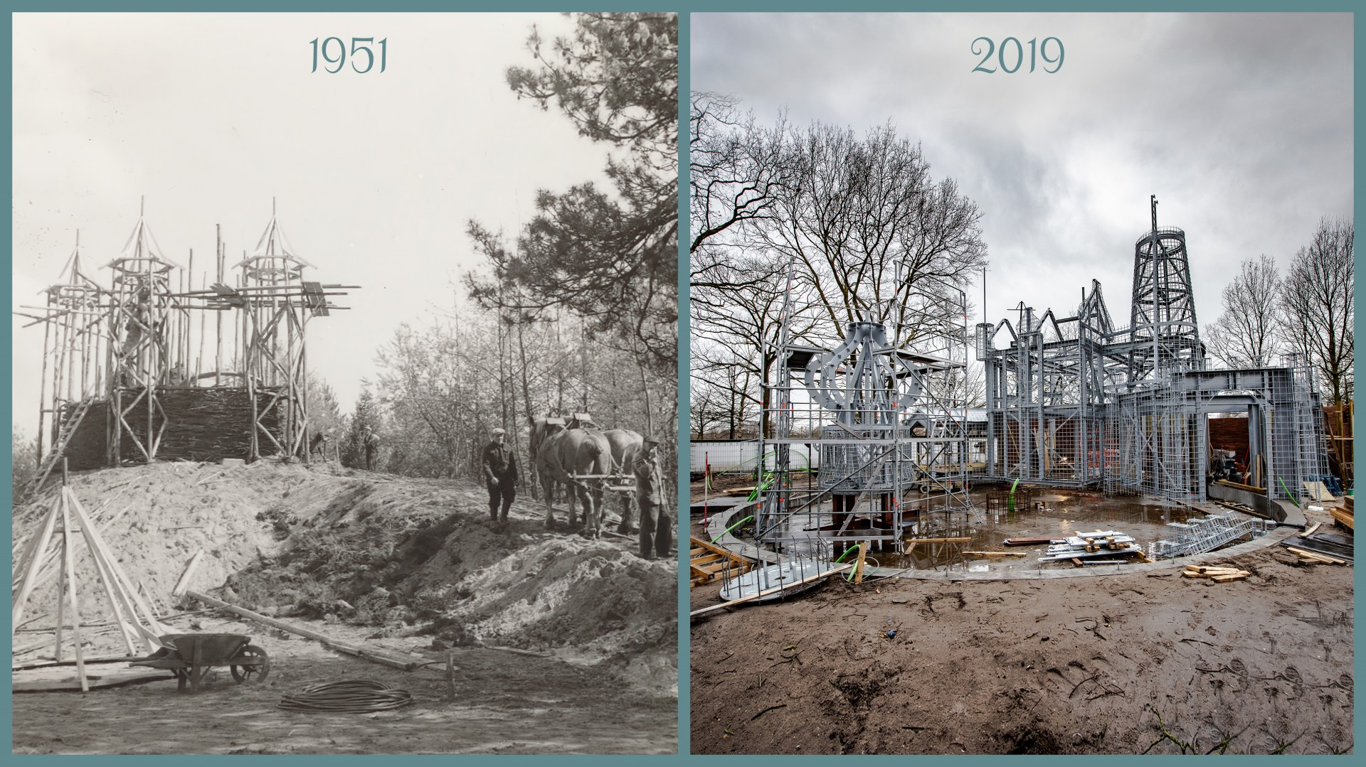 2019 03 21 Steel frame of The Six Swans, Efteling
