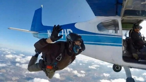 First Solo Skydive Exit