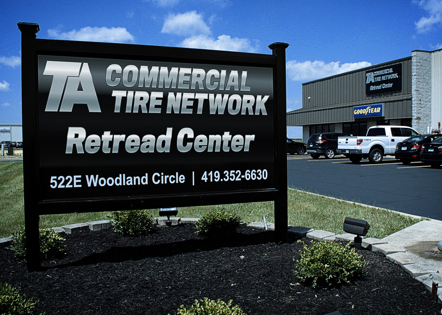 Retread Center Sign
