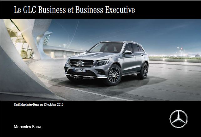 Nouveau tarif GLC Business et Business Executive au 13 octobre 2016