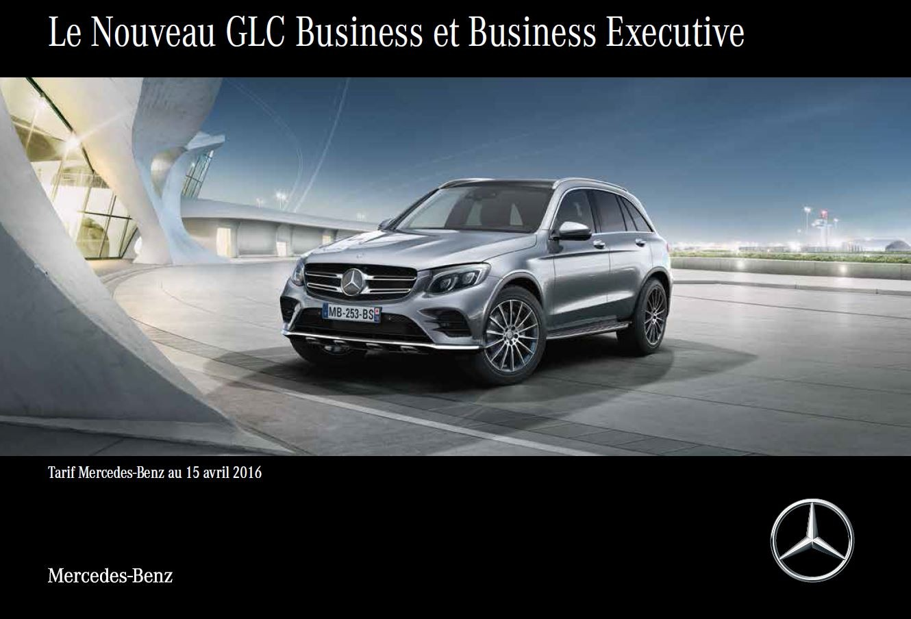 Tarif Nouveau GLC Business et Business Executive au 15 avril 2016