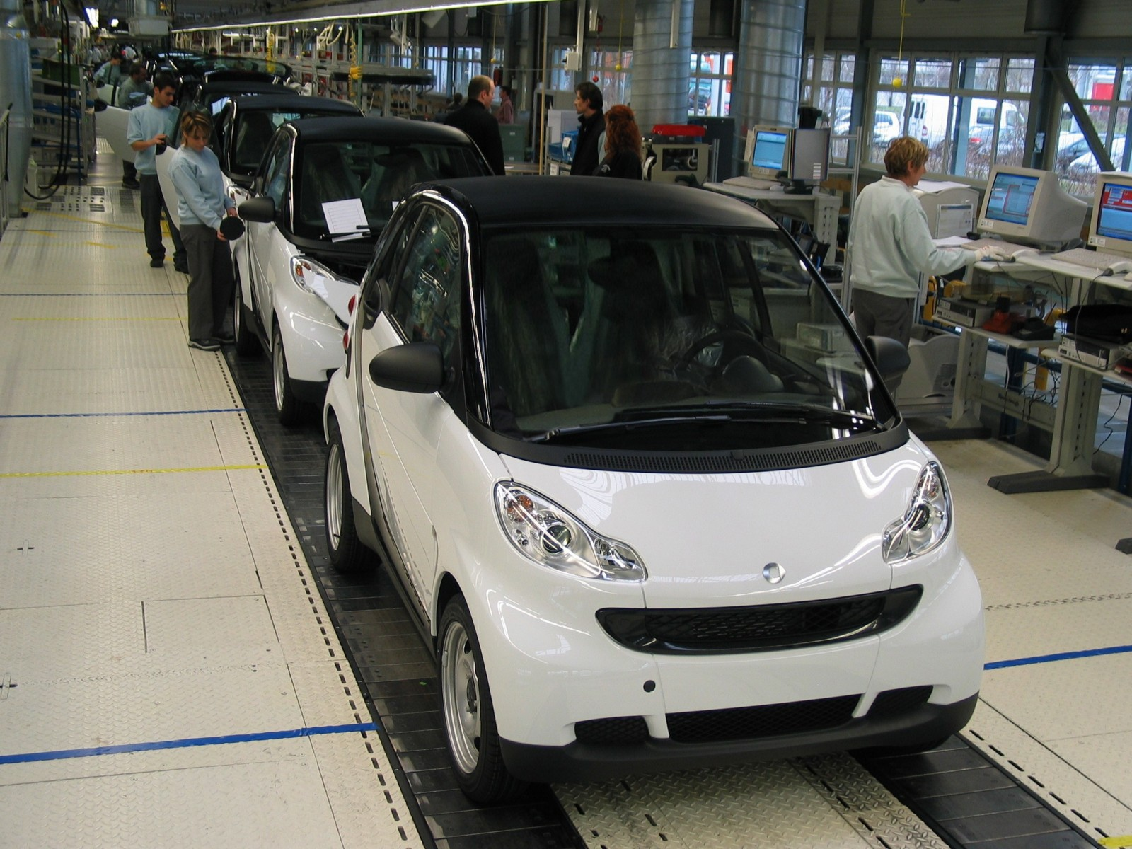 La production de la nouvelle fortwo
