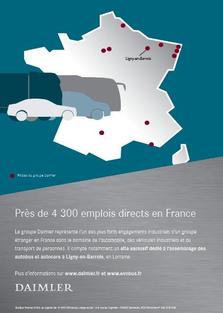 Annonce Daimler emplois en France 2018