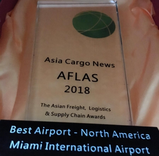 MIA named Best Airport in North America for Cargo Logistics