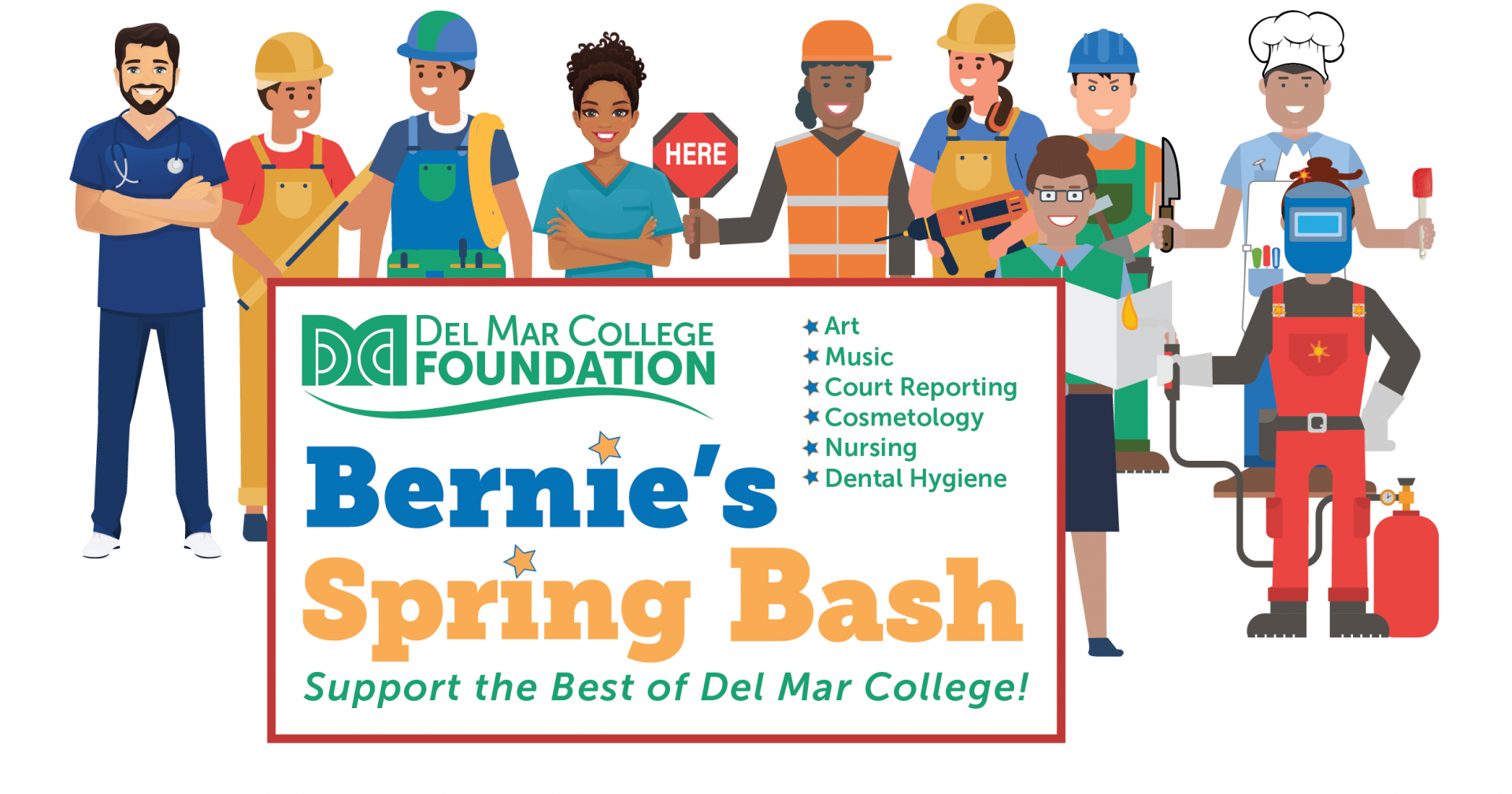 DMC Foundation_Bernie's Spring Bash 2021 Art