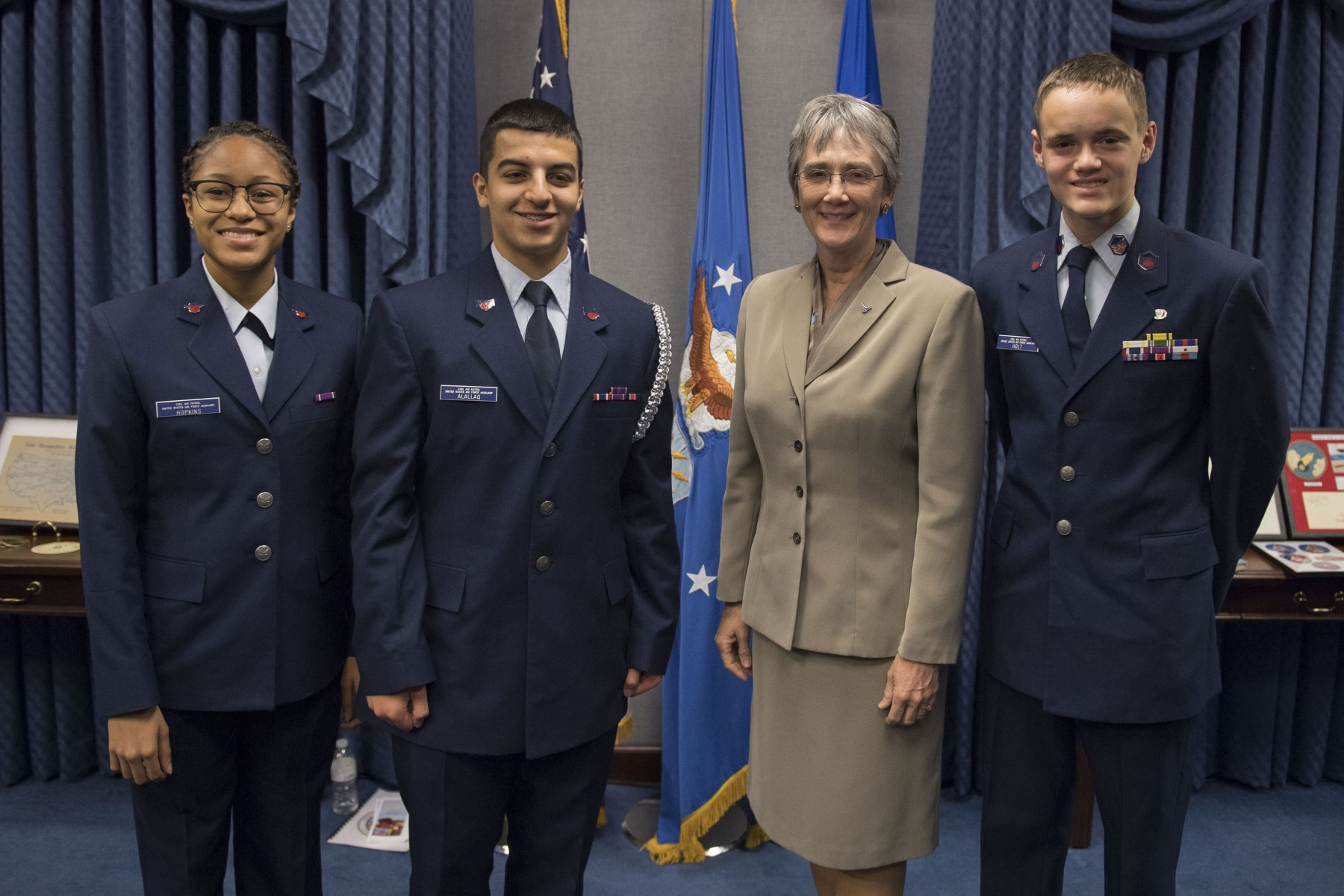 Secretary Wilson with cadets