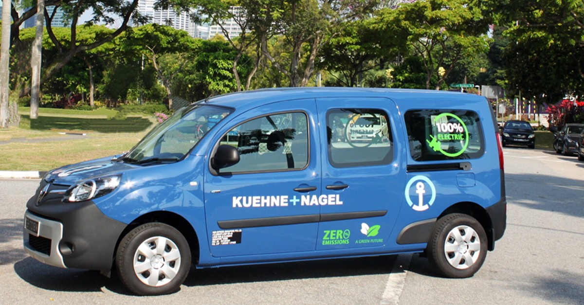 Kuehne + Nagel has rolled out 100% zero-emission electric vehicles (EV) for island-wide delivery in Singapore