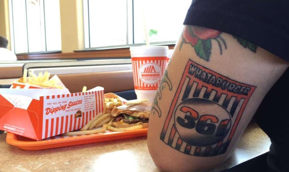 The texas art of whataburger tattoos for Corpus christi tattoo shops
