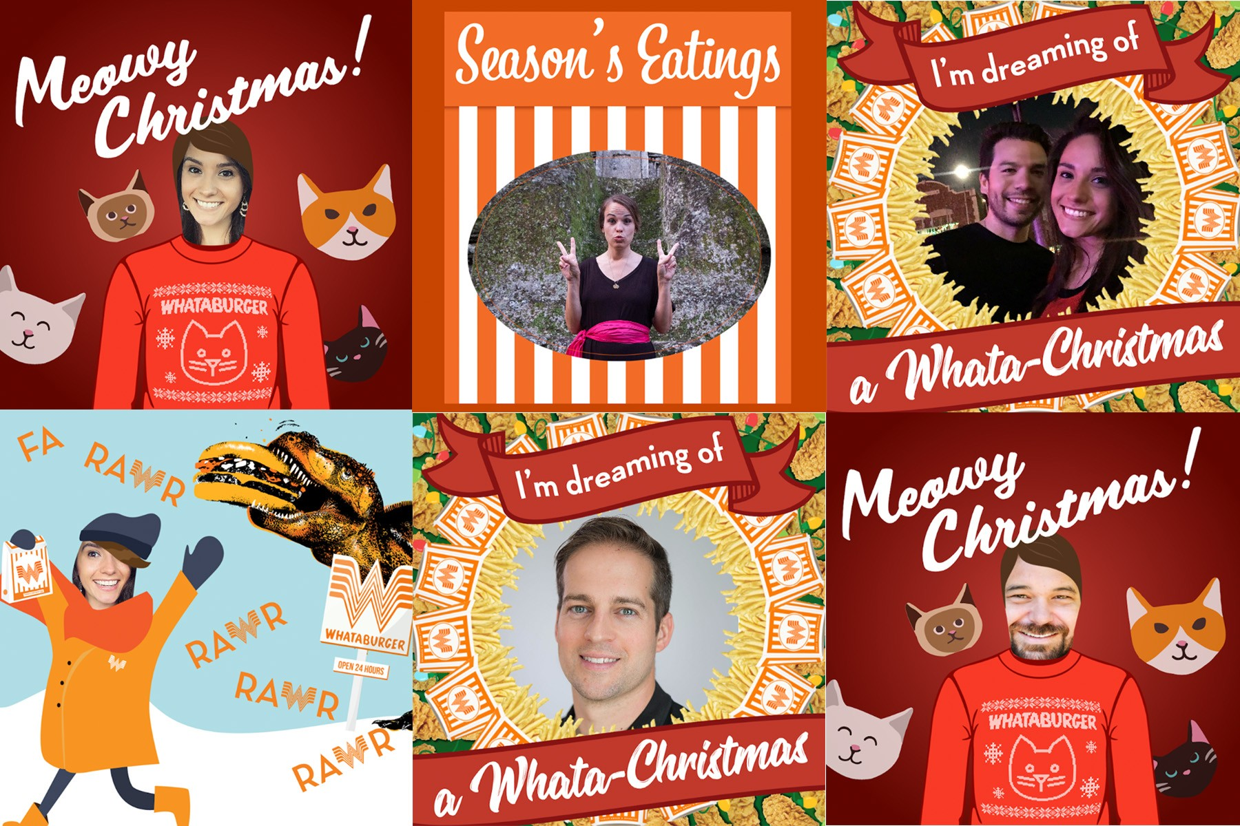 make all your friends jealous with your very own whataburger holiday card - Is Whataburger Open On Christmas