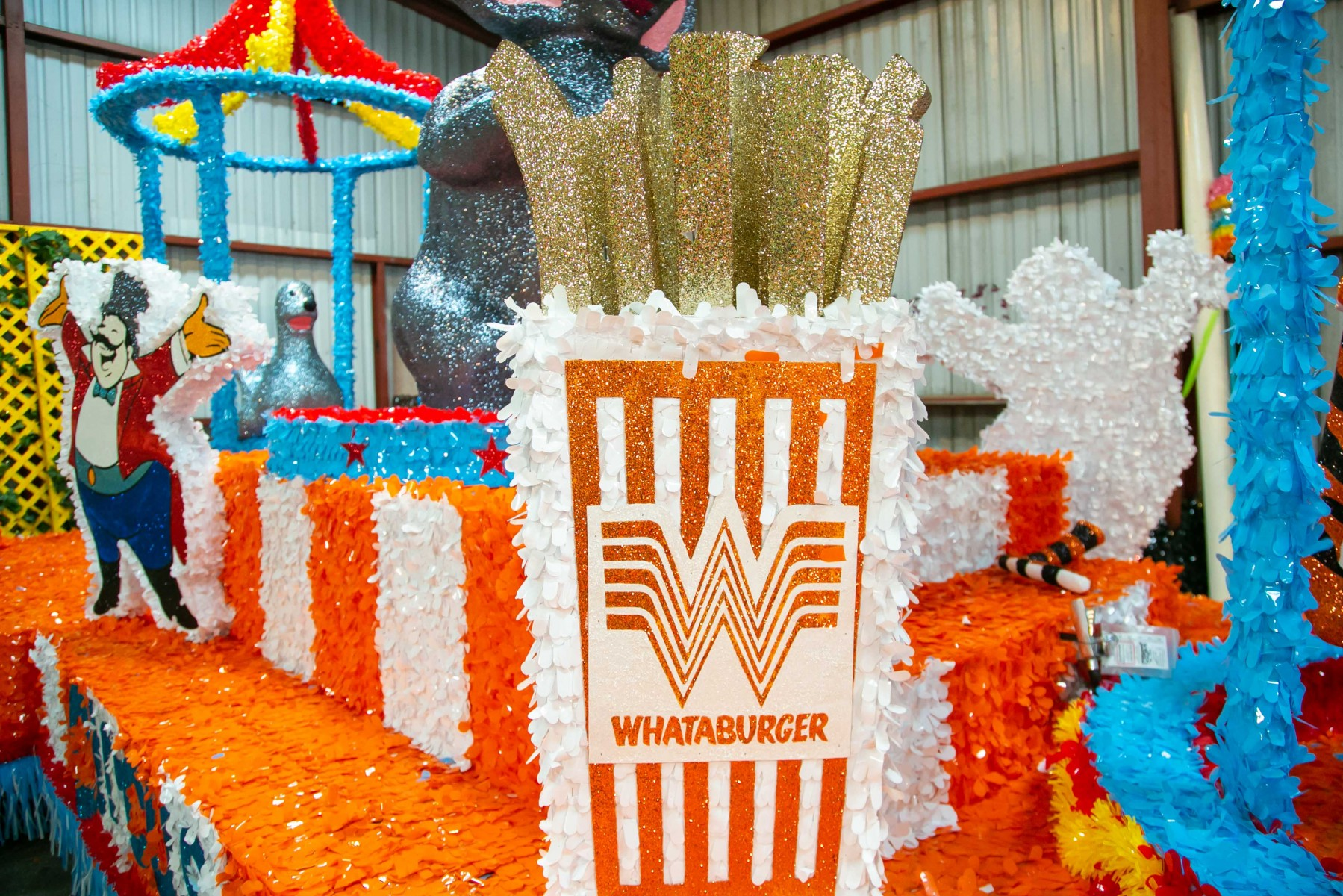 The Making Of Whataburger S Float For San Antonio S Battle