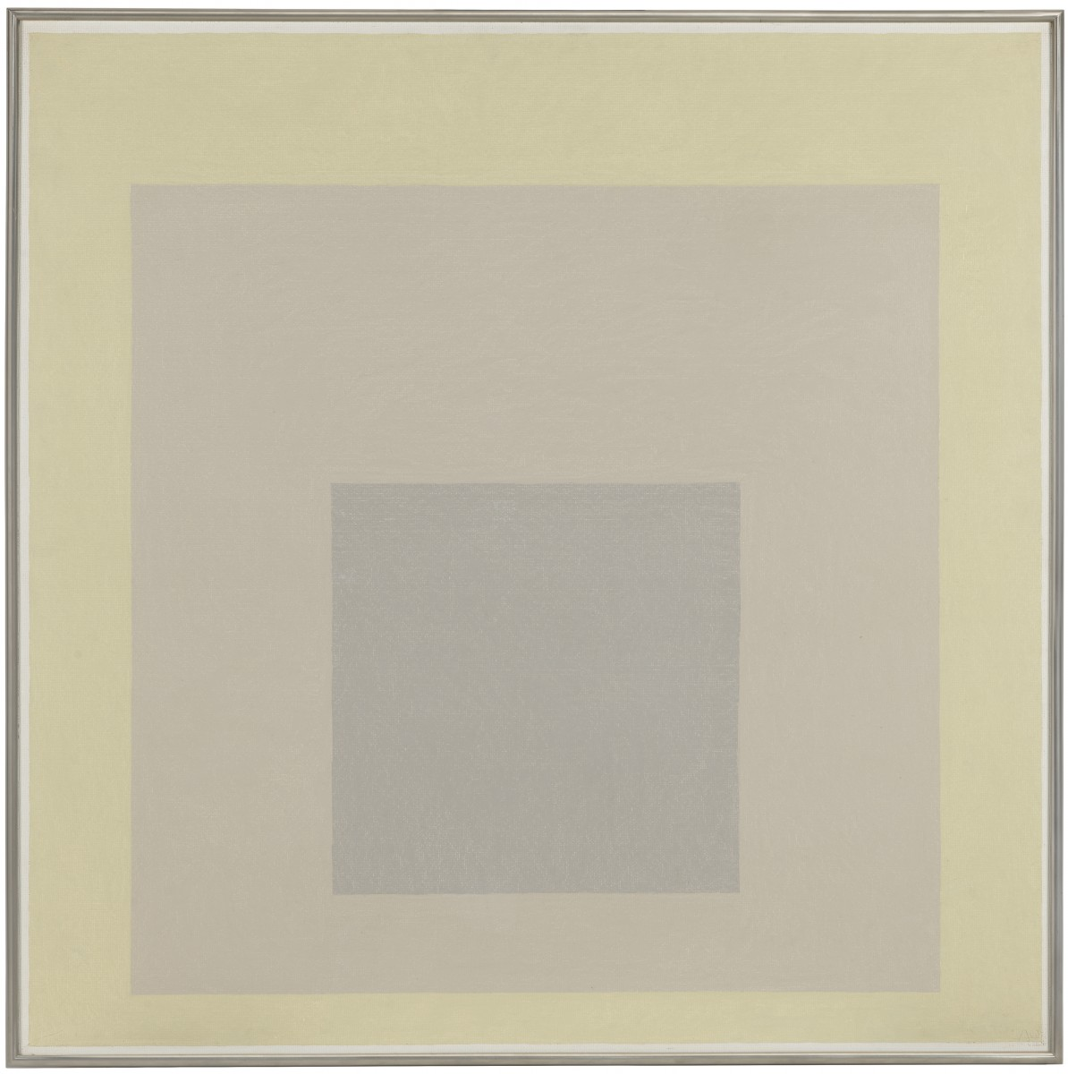 """Homage to the Square (It Seems),"" 1963, by Josef Albers. Oil on panel, 39 7/8 x 40 inches. © The Josef and Anni Albers Foundation / Artists Rights Society (ARS), New York. Gift of the Friends of the Philadelphia Museum of Art, 1968. Image courtesy of Philadelphia Museum of Art, 2019."