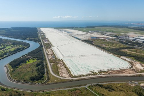 Brisbane's new runway looking to Moreton Bay