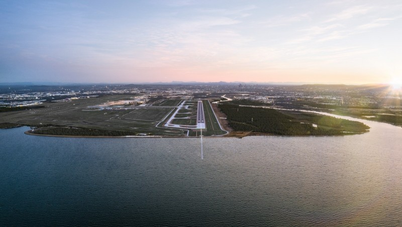 Brisbane's New Runway_Dusk Render