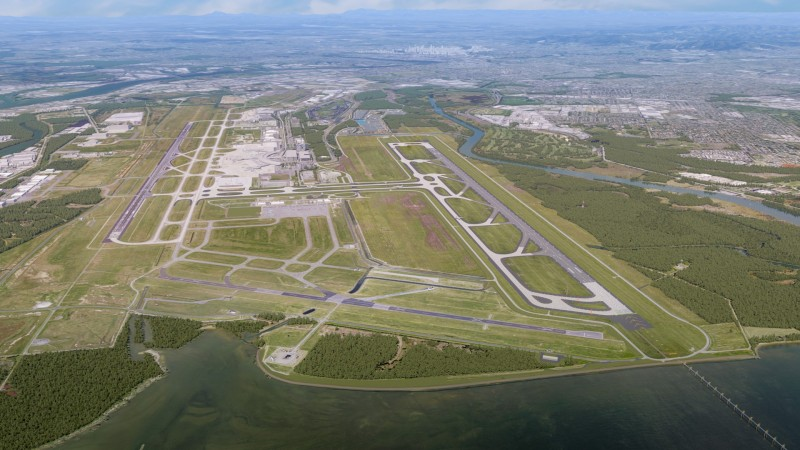 Brisbane's new  runway