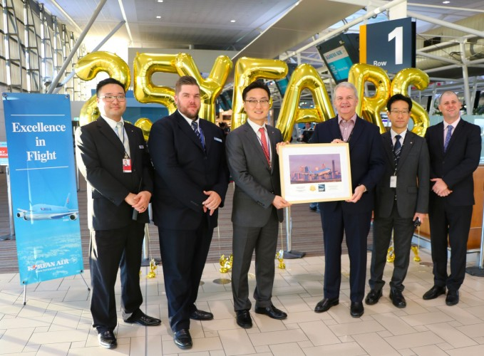 July 2018 - Korean Air celebrates 25 years with Brisbane Airport