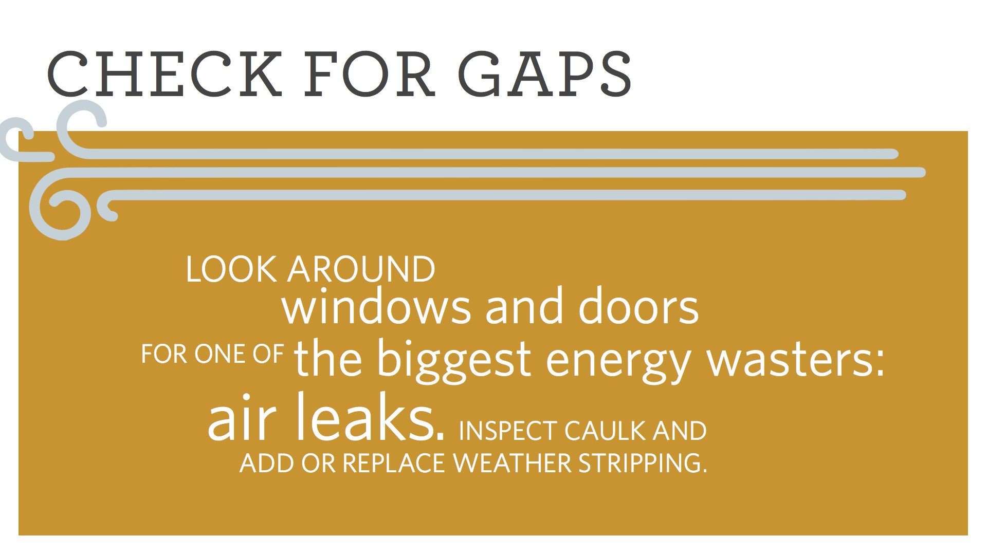 Check for gaps