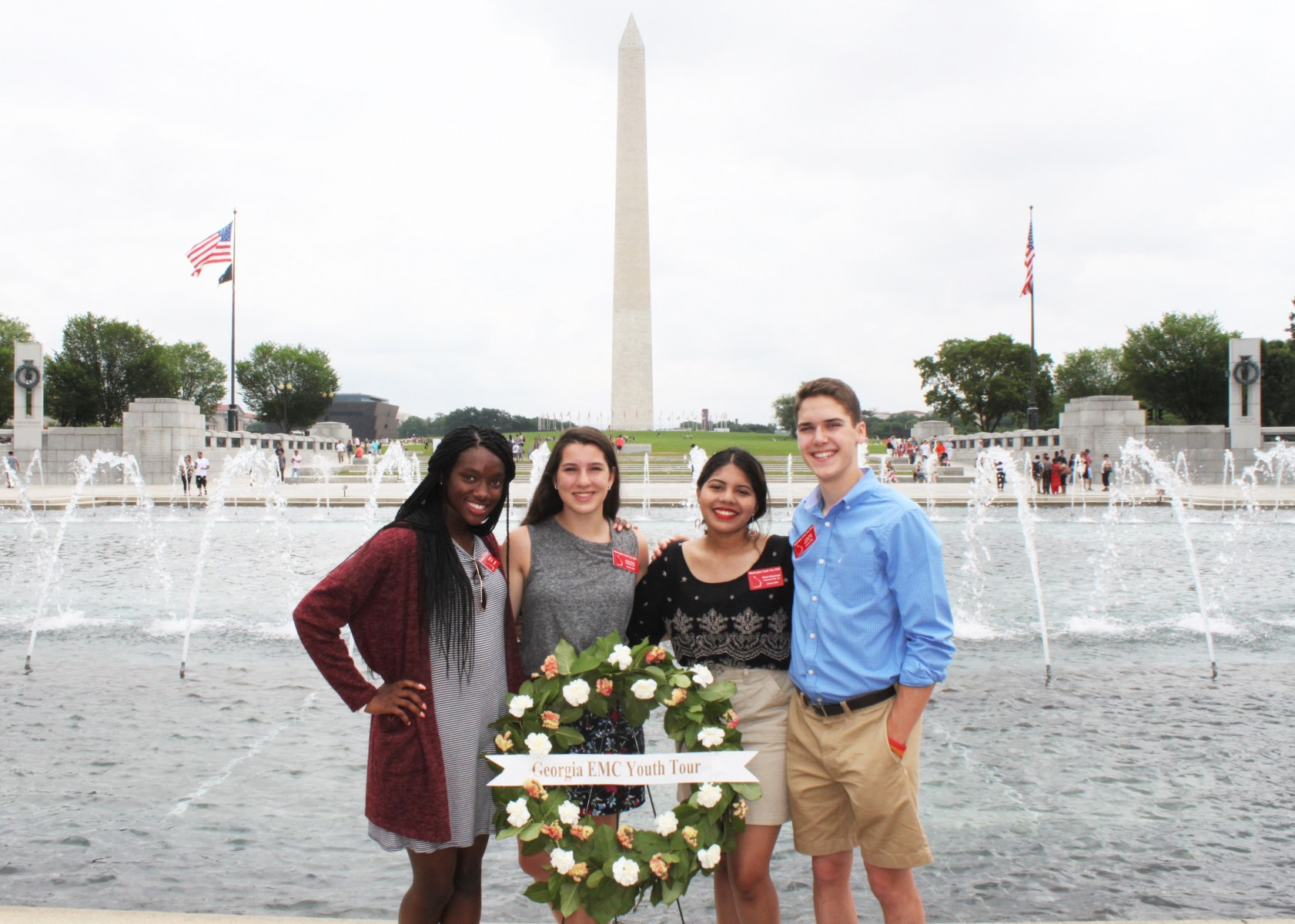 Washington Youth Tour delegates 2018