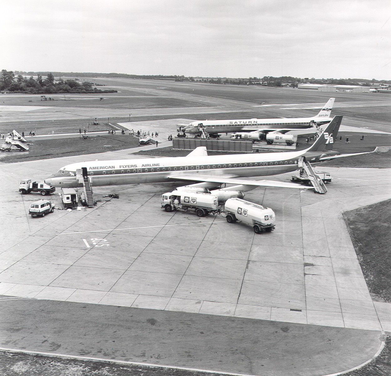 The first jets arrived in the early 60s
