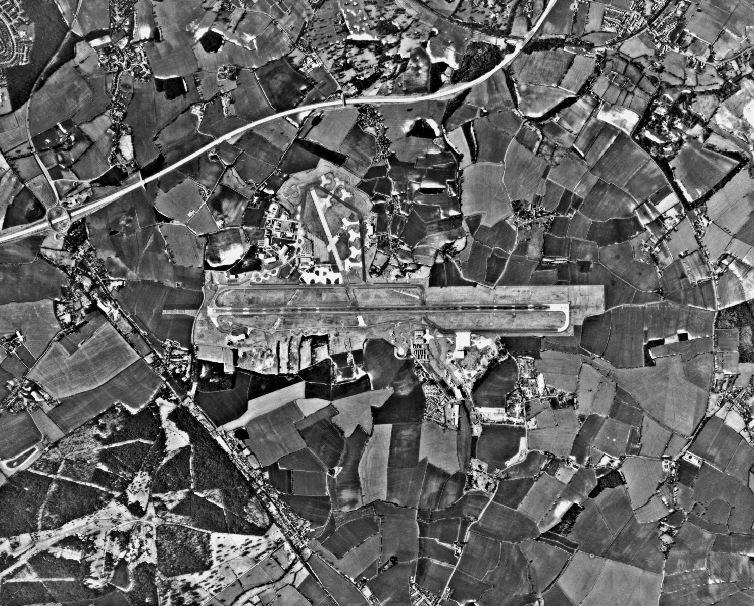 Aerial photo of the airfield from the late sixties.
