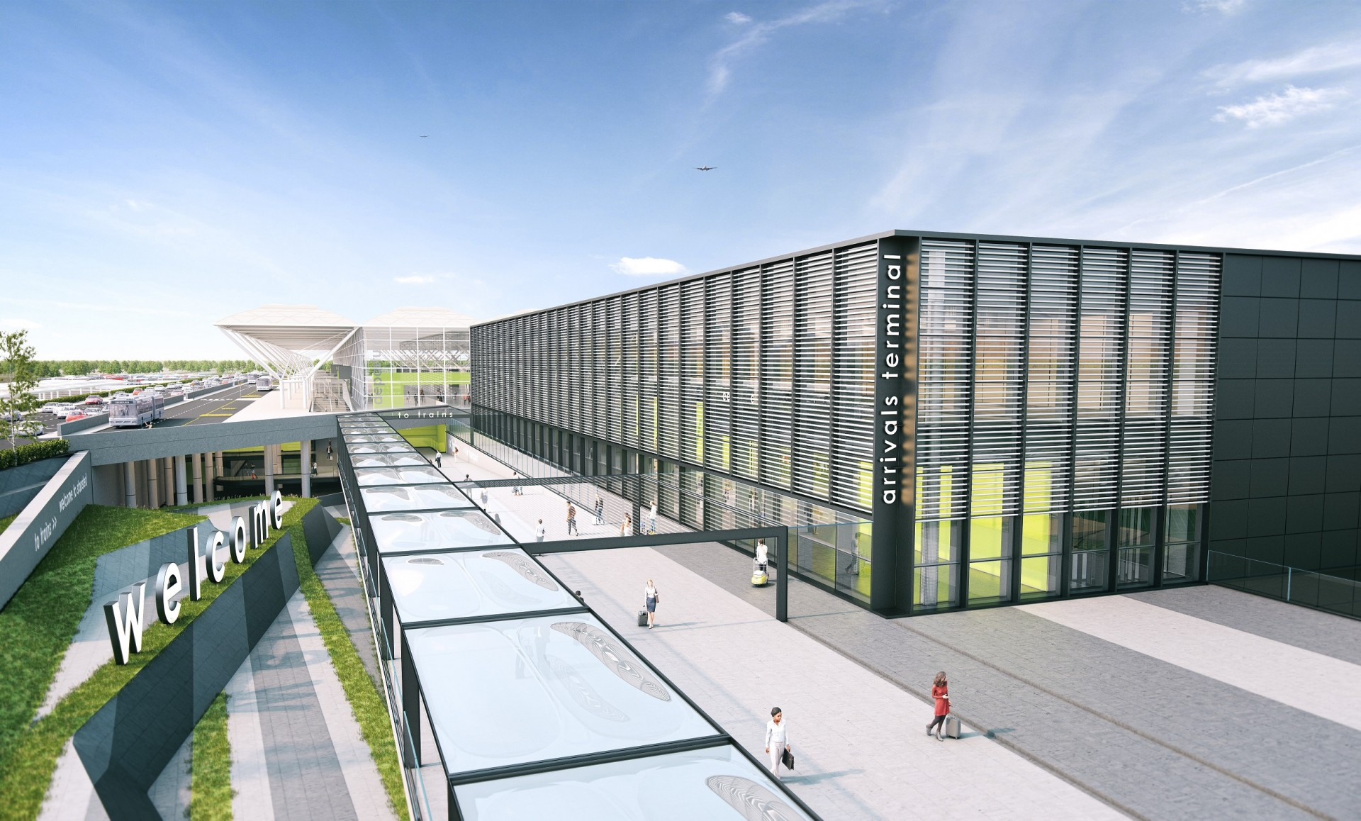 Stansted Unveils Striking New Images Of Arrivals Terminal