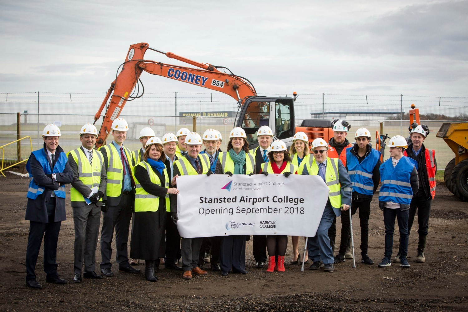 Developing future talent. The airport has teamed up with Harlow College and opened the UK's first aviation skills college in 2018.