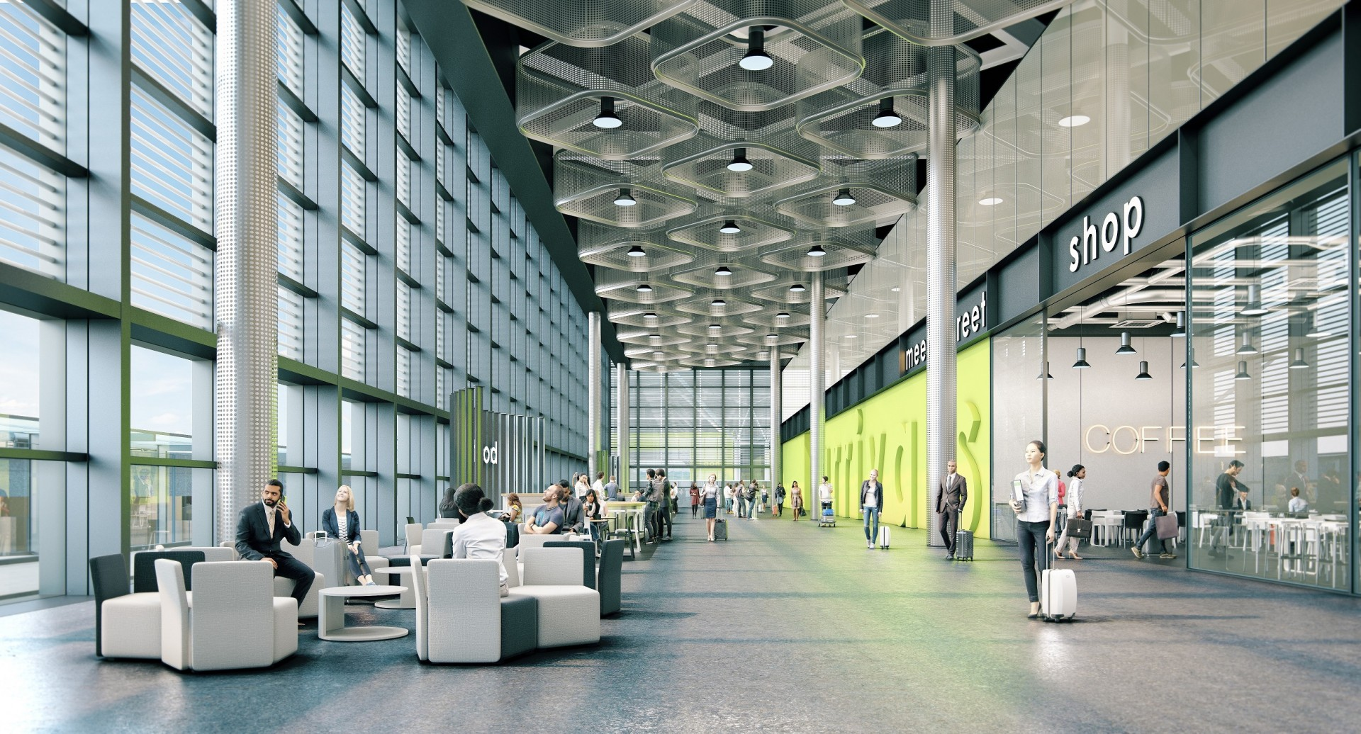 London Stansted's new arrivals terminal which is due to open in 2020.