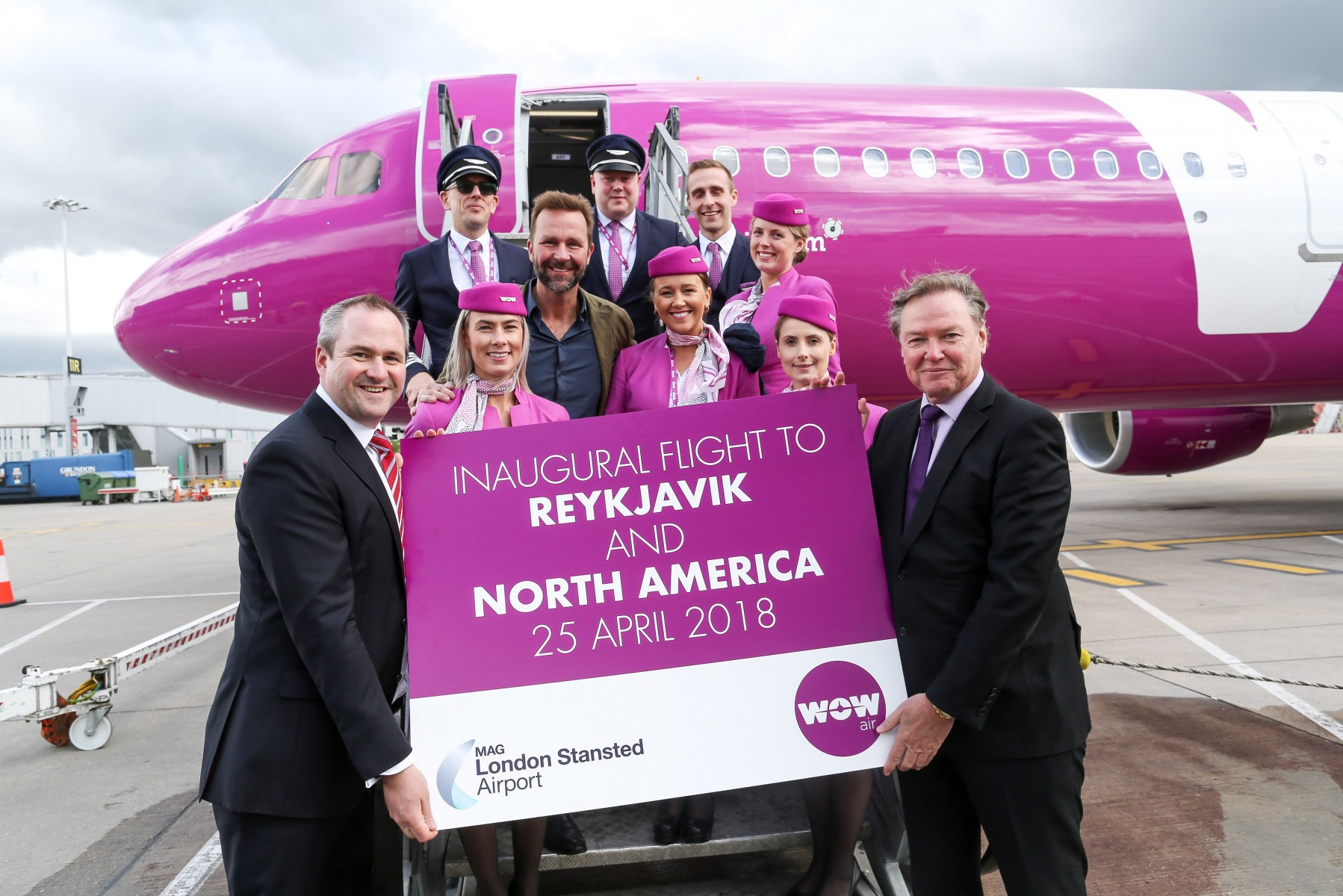 WOW AIR FLIGHTS TAKE OFF FROM LONDON STANSTED