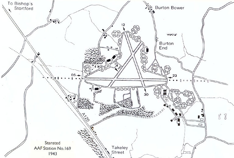 Map of the airfield map in 1943.