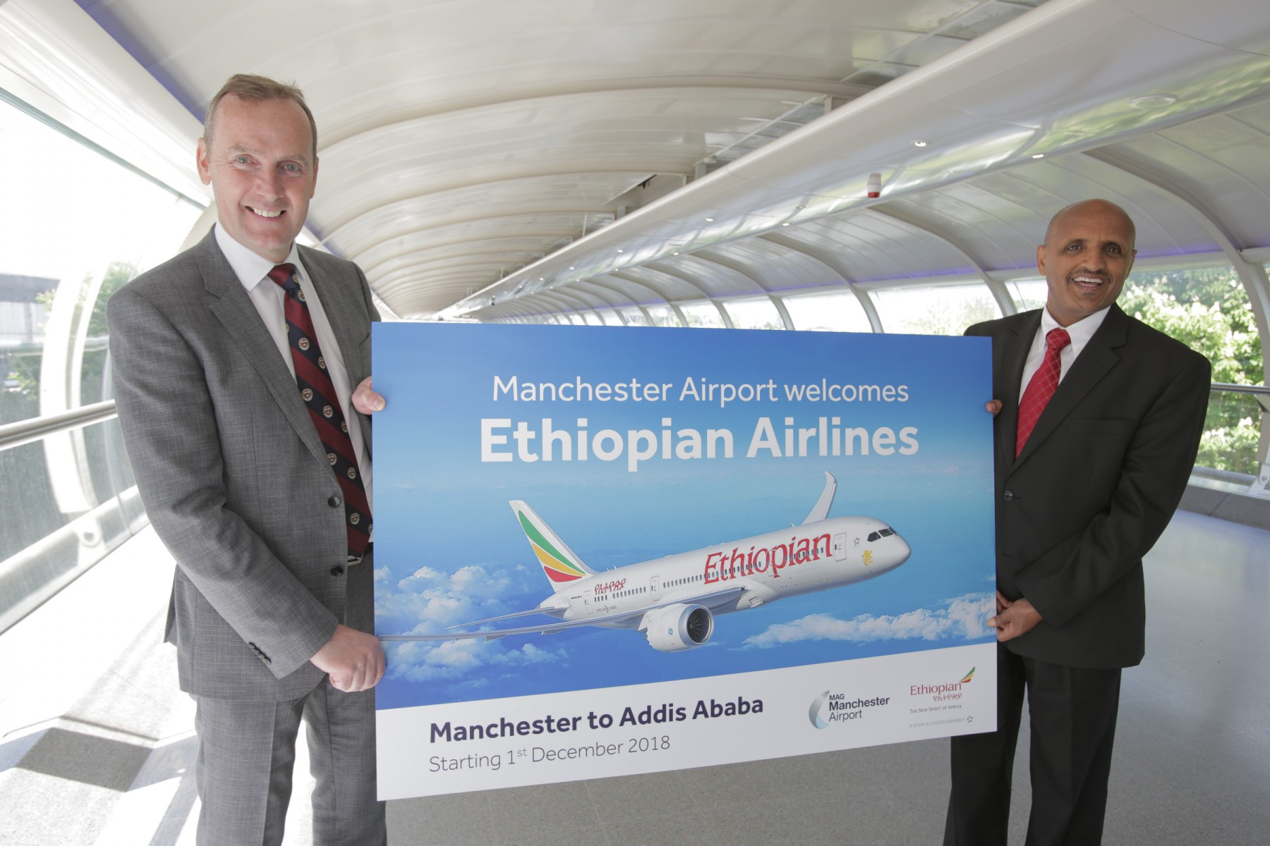 Ethiopian Airlines Come To Manchester Airport Opening Up Africa For