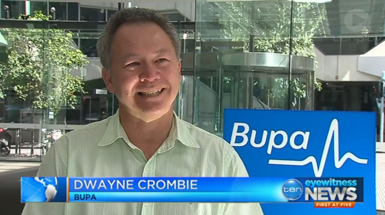 Dwayne Crombie on Ten News