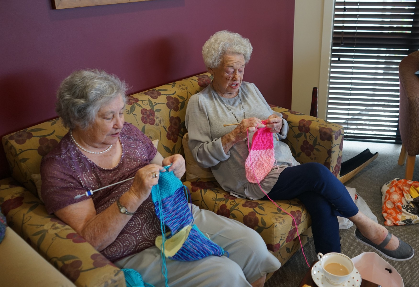 Knitters at Bupa Glenburn Retirement Village