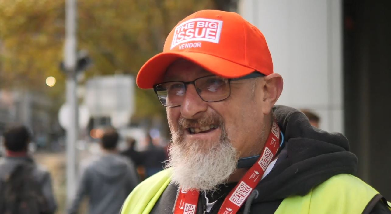 Mark selling The Big Issue