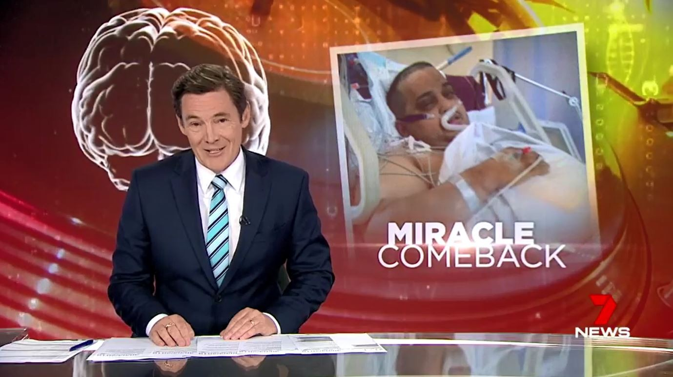 Seven News Melbourne features Bupa Therapy stroke patient