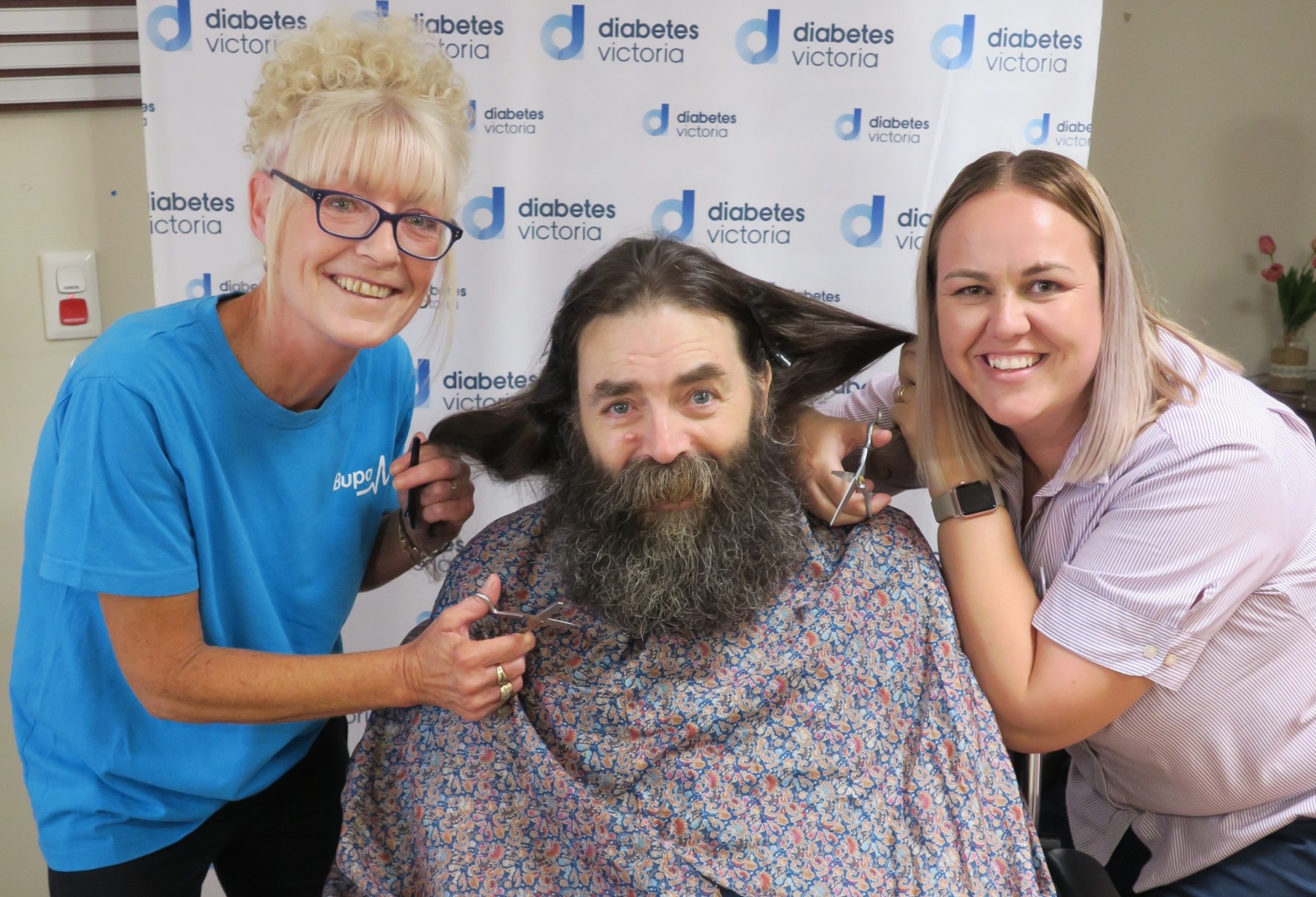 Rodger's Shave for Diabetes Victoria