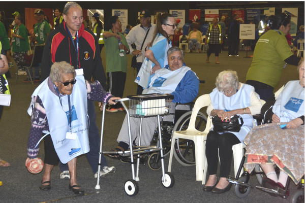 Aged Care residents at the Kaumatua Olympics News
