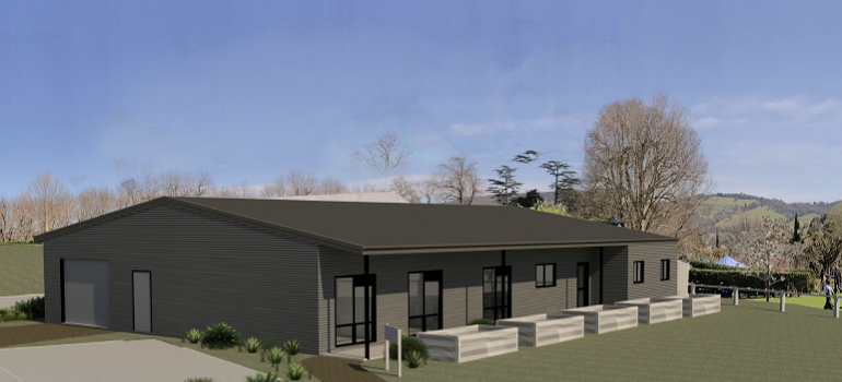North West view of proposed Kyneton Mens Shed at Bupa Kyneton
