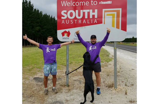 Sam Tee in South Australia walking for Stroke awareness