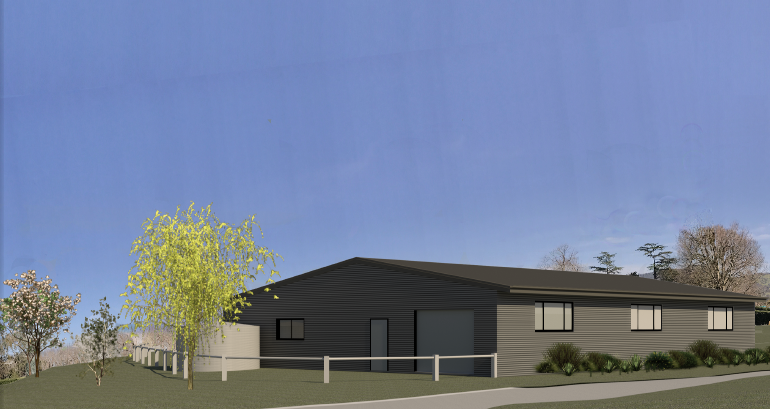 South East view of proposed Kyneton Mens Shed at Bupa Kyneton